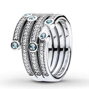 PANDORA Oceanic Ring, Size 7.5, NWOT!
